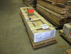 Synergy Wood example of pallet shipping with freight company