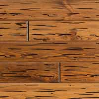 E-Peck by Synergy Wood features an exclusive process that replicates pecky cypress wood planks. Ideal for wood ceilings and covered porches.
