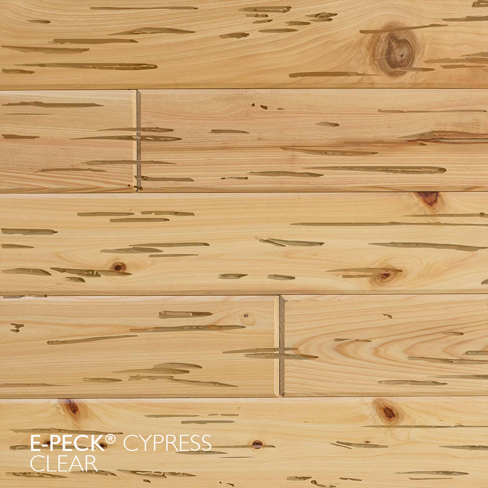 E-Peck® Clear by Synergy Wood - Rare Pecky Cypress look