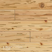 E-Peck® Cypress Clear by Synergy Wood - Rare Pecky Cypress look on Cypress, Ponderosa Pine and Southern Pine boards.