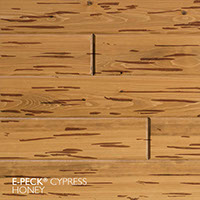 E-Peck® Cypress Honey by Synergy Wood - Rare Pecky Cypress look on Cypress, Ponderosa Pine and Southern Pine boards.