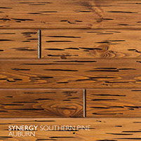 E-Peck® Southern Pine Auburn by Synergy Wood - Rare Pecky Cypress look on Cypress, Ponderosa Pine and Southern Pine boards.