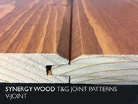 V-JOINT Synergy Wood features prefinished, handcrafted wood walls and wood ceilings.
